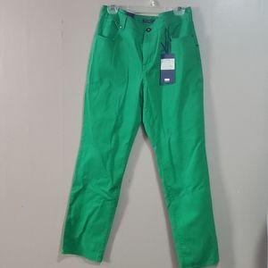 Bandolino Ladies Classic Fit Green Jeans NWT Sz 10